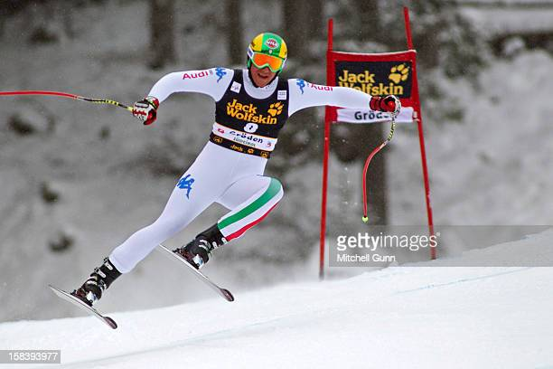 Siegmar Klotz of Italy races down the Saslong course while competing in the Audi FIS Alpine Ski World Cup Downhill race on December 15 2012 in Val...