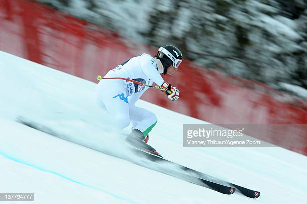 Siegmar Klotz of Italy skis during the Audi FIS Alpine Ski World Cup Men's Downhill Training on January 27 2012 in GarmischPartenkirchen Germany