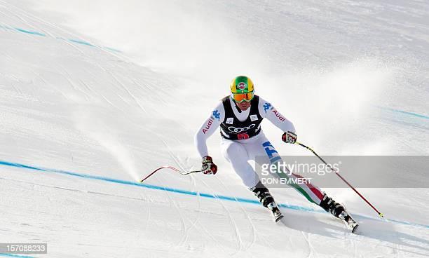 Siegmar Klotz of Italy skis during the FIS Alpine World Cup Men's Downhill training November 28 2012 in Beaver Creek Colorado Klotz had the second...