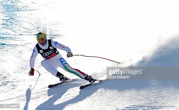 Siegmar Klotz of Italy skis during the FIS Alpine World Cup Men's Downhill training November 29 2012 in Beaver Creek Colorado Klotz had the third...