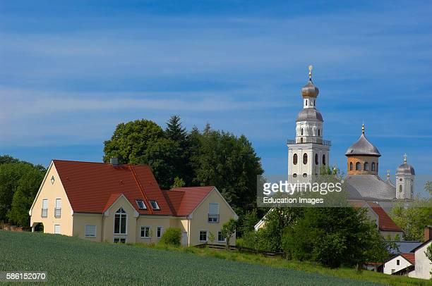 Sielenbach Maria Birnbaum Church Gothic Style Pilgrimage Church Swabia Bavaria Germany