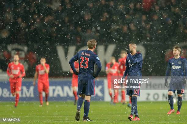 Siem de Jong of Ajax, Hakim Ziyech of Ajax during the Dutch Eredivisie match between Fc Twente v Ajax at the De Grolsch Veste on December 2, 2017 in...
