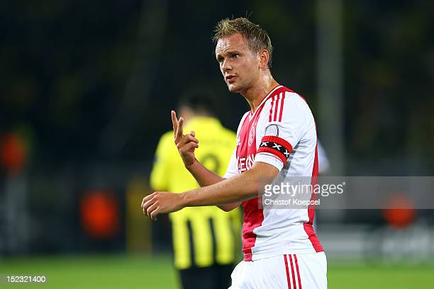 Siem De Jong of Amsterdam shouts during the UEFA Champions League group D match between Borussia Dortmund and Ajax Amsterdam at Signal Iduna Park on...