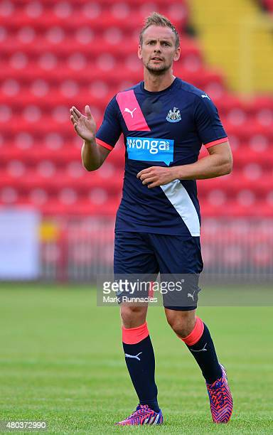 Siem De Jong of Newcastle in action during the pre season friendly between Gateshead and Newcastle United at Gateshead International Stadium on July...