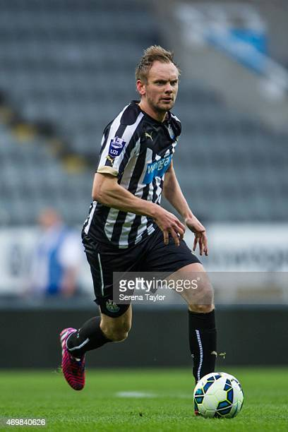 Siem de Jong of Newcastle runs with the ball during the U21 Barclays Premier League match between Newcastle United and Derby County at St James' Park...