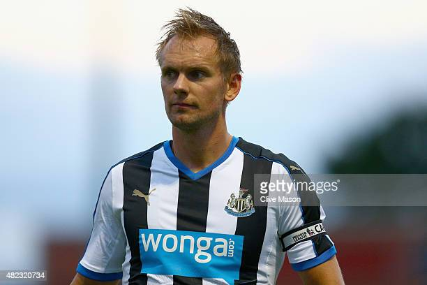Siem de Jong of Newcastle United in action during the pre season friendly match between York City and Newcastle United at Bootham Crescent on July 29...