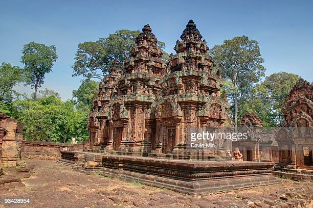 siem reap banteay srei - banteay srei stock pictures, royalty-free photos & images