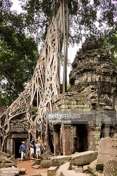Siem Reap Cambodia August 8 2012 The temple of Preah Khan Preah Khan sometimes transliterated as Prah Khan is a temple at Angkor Cambodia built in...