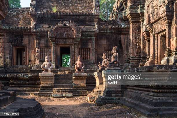 siem reap, cambodia banteay srei temple(queen palace) - angkor wat stock pictures, royalty-free photos & images