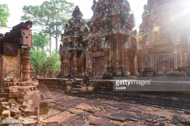 siem reap, cambodia banteay srei temple(queen palace) - banteay srei stock pictures, royalty-free photos & images