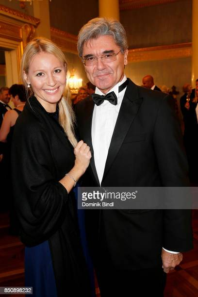 Siemens Joe Kaeser with his daughter Kathrin during the traditional Buehnendinner 2017 at Bayerische Staatsoper on September 21 2017 in Munich Germany