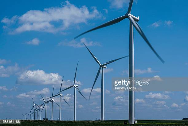 Siemens wind turbines which were manufactured at the Fort Madison facility, operate on a wind farm in Marshalltown, Iowa, managed by MidAmerican...