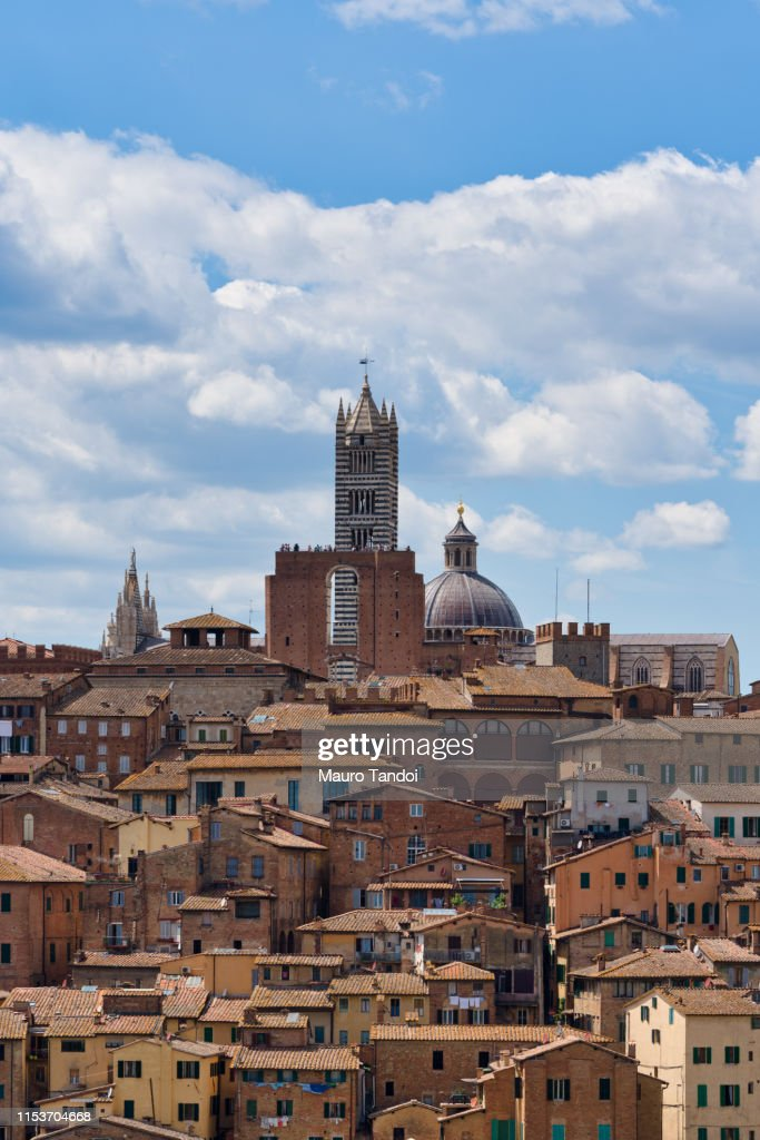 Siena and its Cathedral of Santa Maria Assunta, Tuscany : Foto stock
