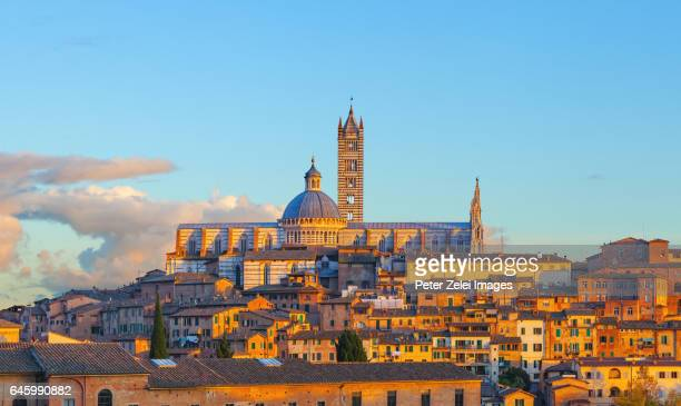 Siena cityscape with the Duomo di Siena (Cathedral of Siena)
