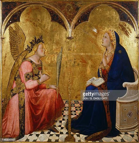 Siena Pinacoteca Nazionale Buonsignori Palace Annunciation by Ambrogio Lorenzetti tempera and gold on wood 127x120 cm