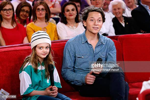 Sienna BallWilscam and Singer Raphael who presents his Album 'Somnambules' during the 'Vivement Dimanche' French TV Show at Pavillon Gabriel on May...