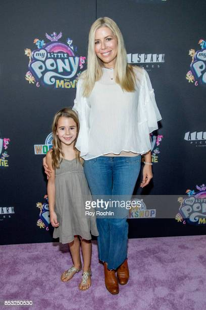 Sienna Drescher and Aviva Drescher attend 'My Little Pony The Movie' New York screening at AMC Lincoln Square Theater on September 24 2017 in New...