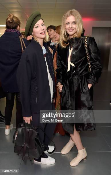 Sienna Guillory and Donna Air attend the Jigsaw London Fashion Week show on February 21 2017 in London England
