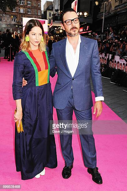 Sienna Guillory and Enzo Cilenti arrive for the world premiere of 'Bridget Jones's Baby' at Odeon Leicester Square on September 5 2016 in London...