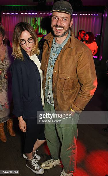 Sienna Guillory and Enzo Cilenti attend the Massive Attack after party at 100 Wardour St following their performance at the Barclaycard British...