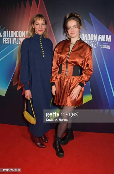 """Sienna Guillory and Selena Thompson attend the UK Premiere of """"A Banquet"""" during the 65th BFI London Film Festival at the Curzon Soho on October 15,..."""