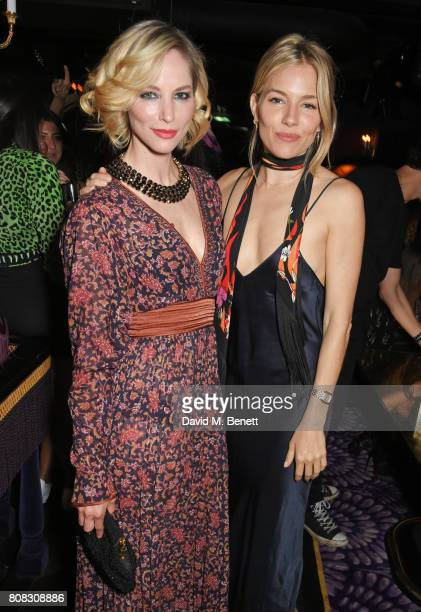 Sienna Guillory and Sienna Miller attend the Rockins party to celebrate the Rockins Selfridges PopUp Shop at Park Chinois supported by Ciroc on July...