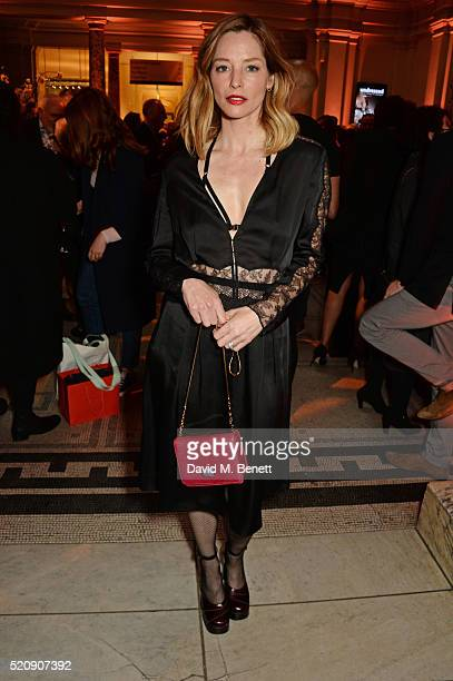 Sienna Guillory attends a private view of new exhibition Undressed A Brief History Of Underwear at The VA on April 13 2016 in London England