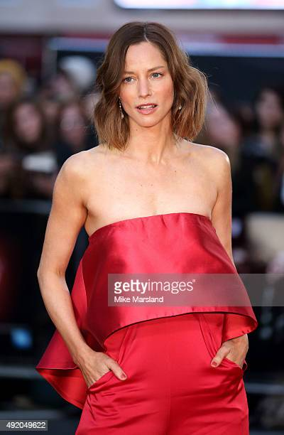 Sienna Guillory attends a screening of High Rise during the BFI London Film Festival at Odeon Leicester Square on October 9 2015 in London England