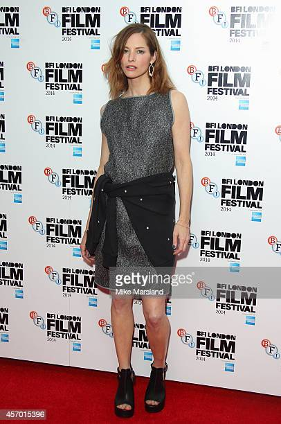 Sienna Guillory attends a screening of 'The Goob' during the 58th BFI London Film Festival at Vue West End on October 10 2014 in London England