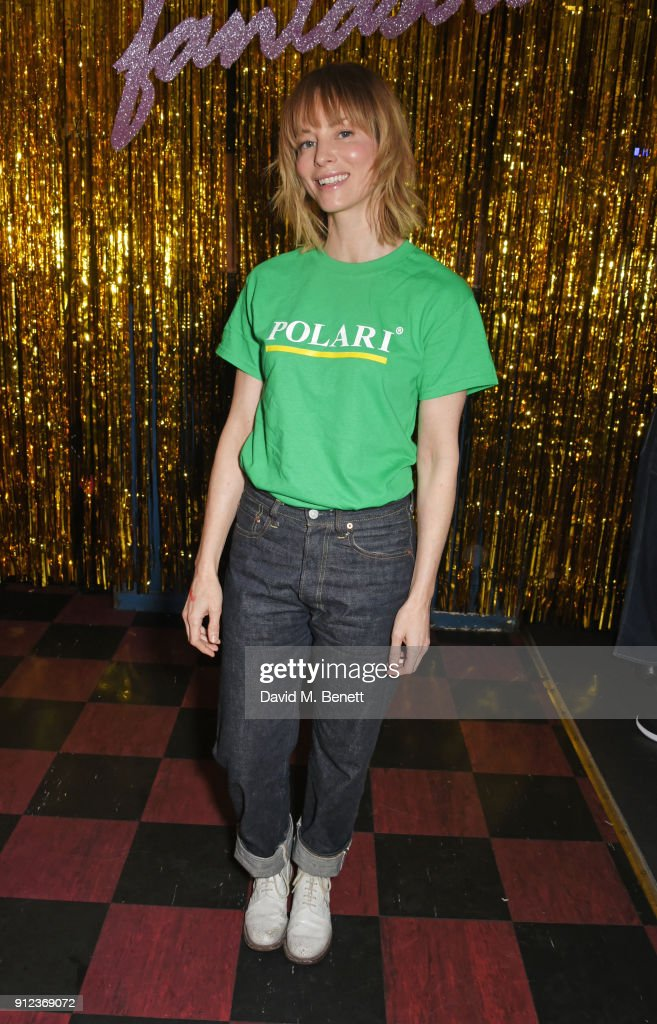Sienna Guillory attends the ALEXACHUNG Fantastic collection party on January 30, 2018 in London, England.