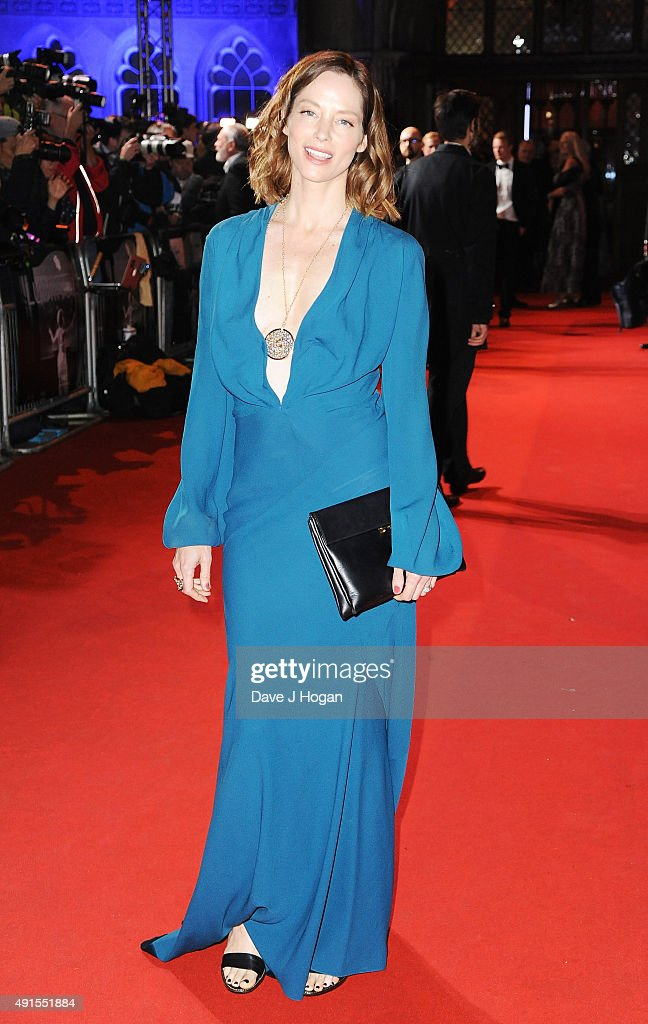Sienna Guillory attends the BFI Luminous Funraising Gala at The Guildhall on October 6, 2015 in London, England.