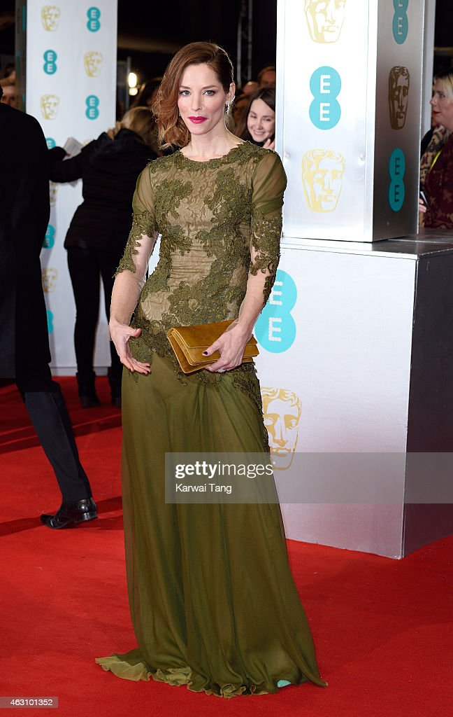 Sienna Guillory attends the EE British Academy Film Awards at The Royal Opera House on February 8, 2015 in London, England.