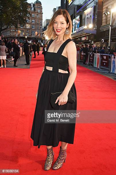 Sienna Guillory attends the 'Free Fire' Closing Night Gala during the 60th BFI London Film Festival at Odeon Leicester Square on October 16 2016 in...