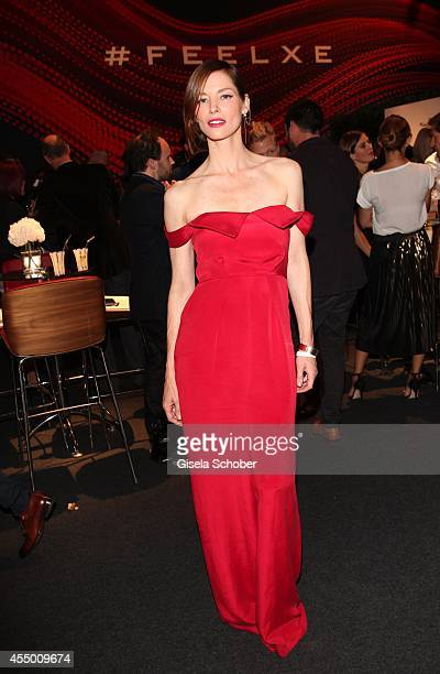 Sienna Guillory attends the new Jaguar XE World Premiere at Earls Court on September 8 2014 in London England