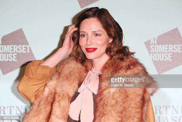 Sienna Guillory attends the opening party of Skate at Somerset House with Fortnum Mason at Somerset House on November 17 2015 in London England The...