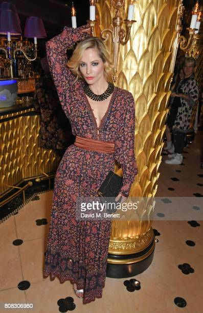 Sienna Guillory attends the Rockins party to celebrate the Rockins Selfridges PopUp Shop at Park Chinois supported by Ciroc on July 4 2017 in London...