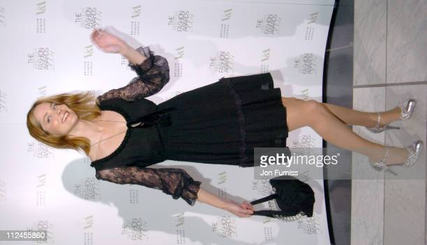 Sienna Guillory during British Fashion Awards 2004 Inside at V A in London Great Britain