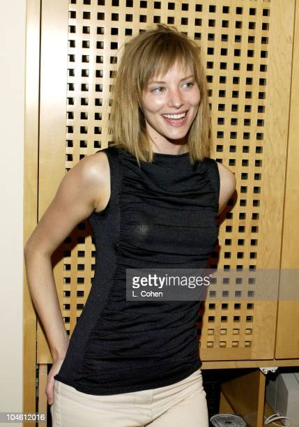 Sienna Guillory during Famed British Hairstylist Charles Worthington Sets up Shop for The Oscars at L' Ermitage Hotel in Beverly Hills California...
