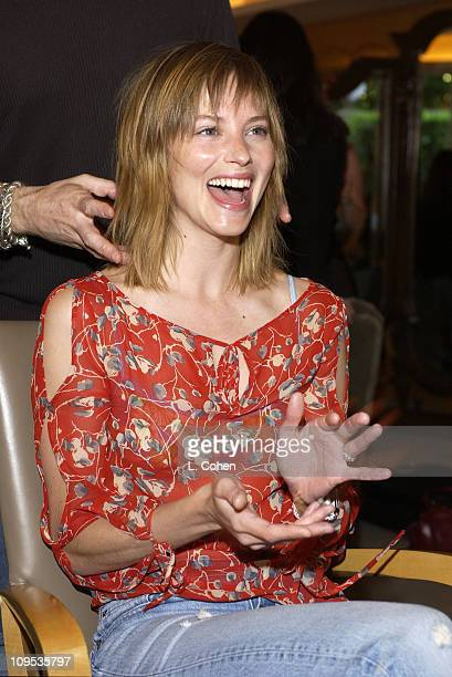 Sienna Guillory during Famed British hairstylist Charles Worthington sets up shop for The Oscars Day 2 at L'Ermitage Hotel in Beverly Hills...