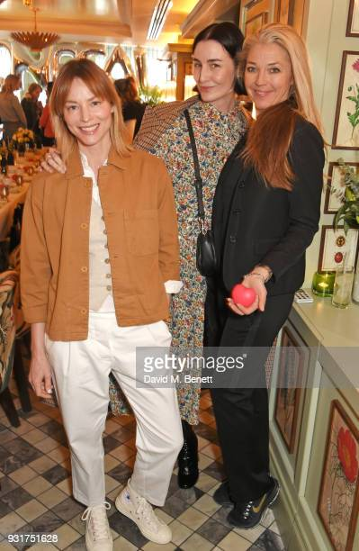 Sienna Guillory Erin O'Connor and Tamara Beckwith attend an exclusive wellness breakfast celebrating luxury sportswear brand Monreal hosted by Tamara...