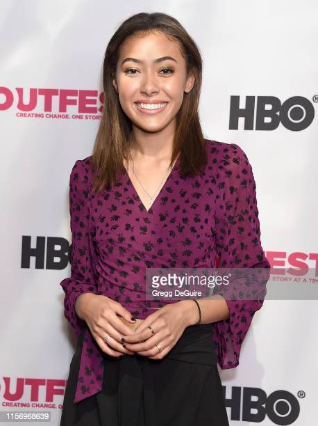 Sienna Hubert Ross attends the 2019 Outfest Los Angeles LGBTQ Film Festival Screening Of Sell By at TCL Chinese Theatre on July 20 2019 in Hollywood...