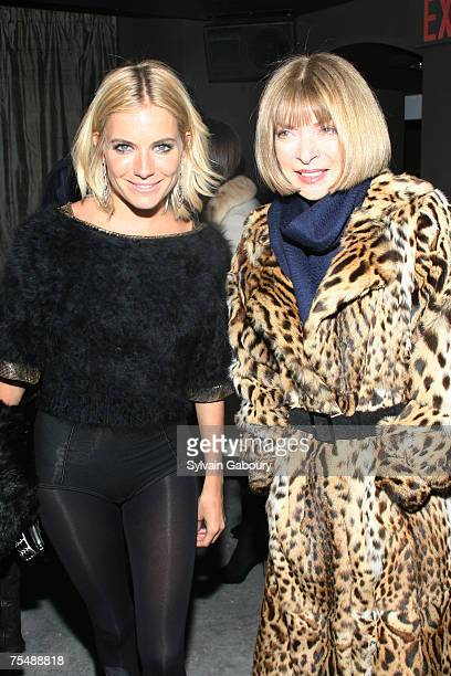 Sienna Miller and Anna Wintour at the 'Factory Girl' New York Premiere After Party at Chelsea Hotel at 222 West 23rd Street in New York City New York