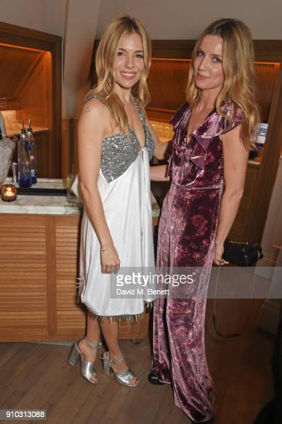 Sienna Miller and Annabelle Wallis attend the launch of Teresa Tarmey's new 'at home facial system' at Mortimer House sponsored by CIROC on January...