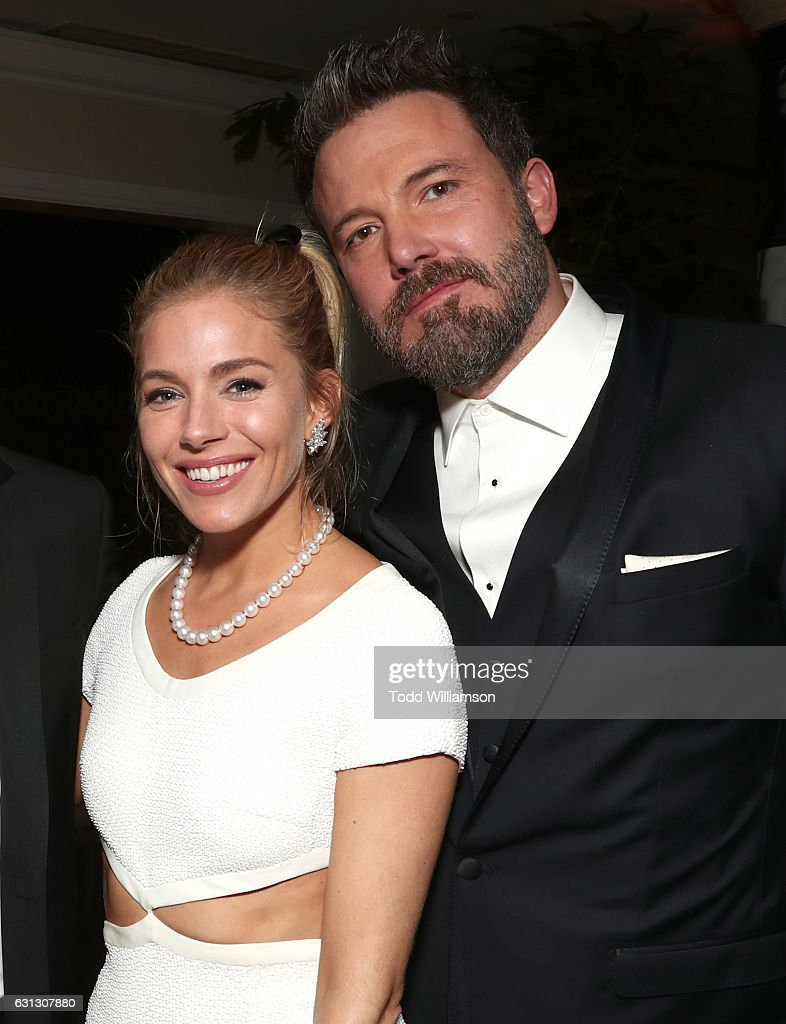 Sienna Miller and Ben Affleck attend Amazon Studios Golden Globes Celebration at The Beverly Hilton Hotel on January 8, 2017 in Beverly Hills, California.