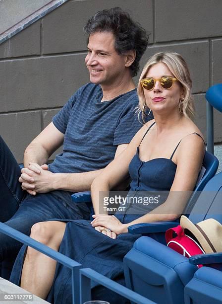 Sienna Miller and Bennett Miller at USTA Billie Jean King National Tennis Center on September 11 2016 in the Queens borough of New York City