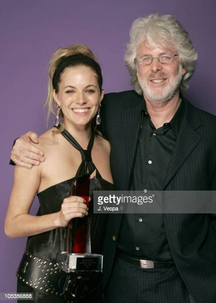 Sienna Miller and Charles Shyer during Hollywood Life's 4th Annual Breakthrough of the Year Awards Portraits at Henry Fonda Theatre in Hollywood...
