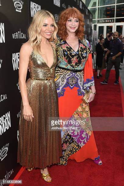 Sienna Miller and Christina Hendricks attend the Los Angeles Premiere of American Woman on June 5 2019 in Los Angeles California