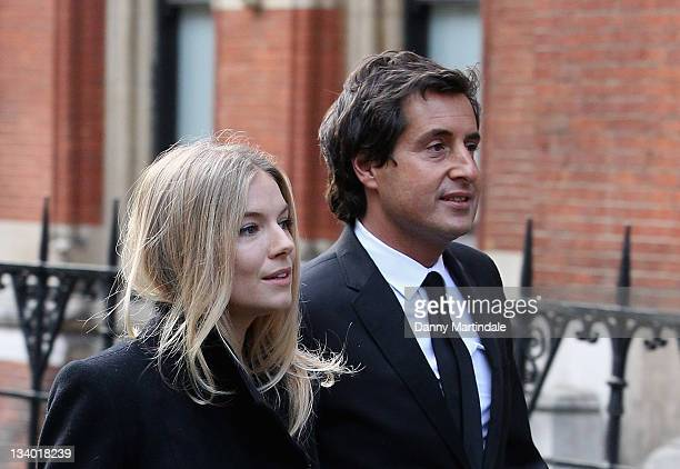 Sienna Miller and David Sherborne QC attend the Leveson Inquiry at High Court on November 24 2011 in London England
