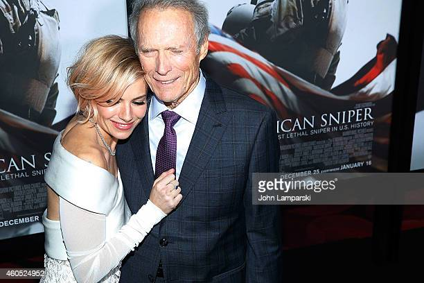 Sienna Miller and Director and Producer Clint Eastwood attend 'American Sniper' New York Premiere at Frederick P Rose Hall Jazz at Lincoln Center on...