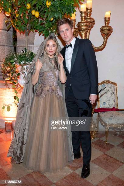 Sienna Miller and her companion Lucas Zwirner attend the Tiepolo Ball Dior in Venice - Dinner gala at Palazzo Labia on May 11, 2019 in Venice, Italy.